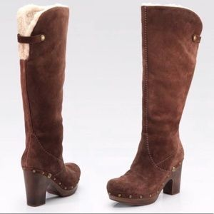 Ugg Lillian Knee-High Brown Suede Boots
